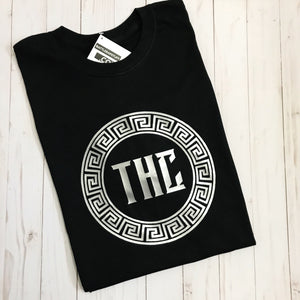 THC Logo T-Shirt - Black and Silver