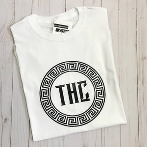 THC Logo T-Shirt - White and Black