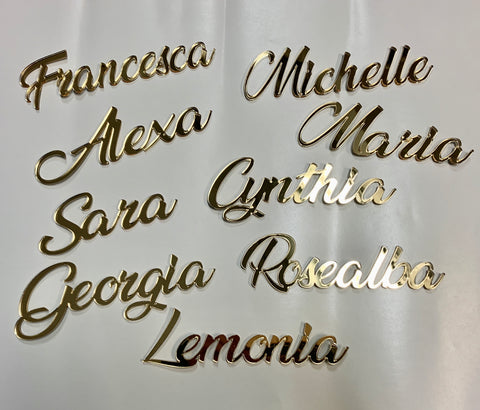 Acrylic & Wood Name for Place Setting