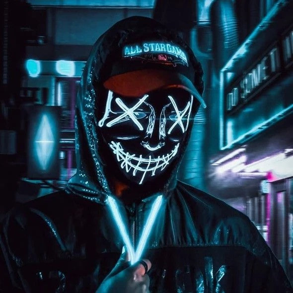 (50%Off End Very Soon)Party & Rave Glow Purge Mask-Buy 2 Extra 20% Off-Buy 3 Get 4