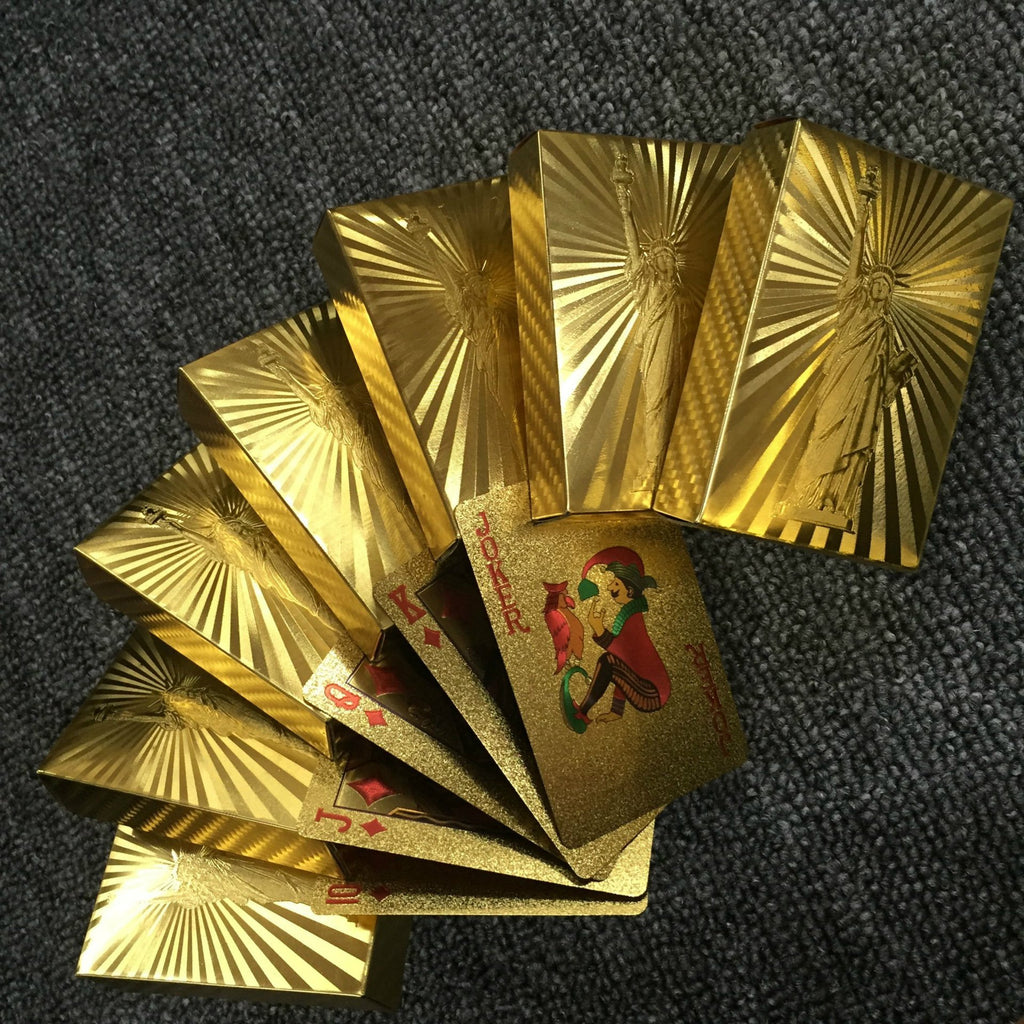 (50%Off End Very Soon!!!)Luxury 24K Gold Foil Poker Playing Cards-Buy 3 Free Shipping-Buy 4 Get 5