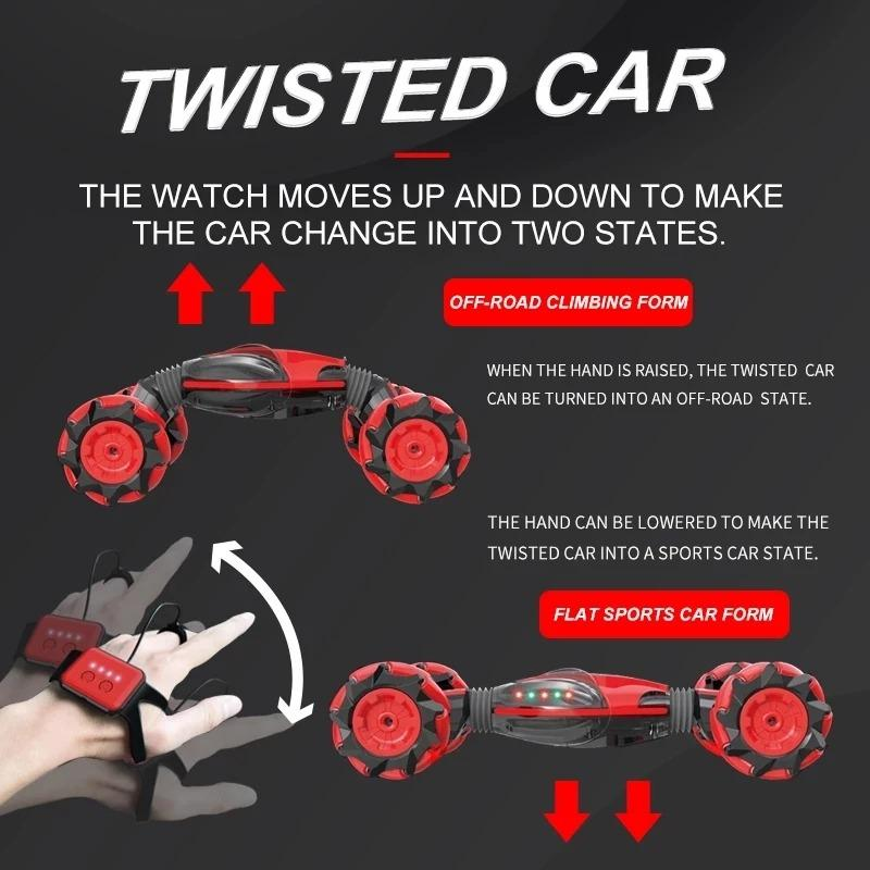 Gesture Control Double-Sided Stunt Car-Buy 2 FS$Extra Save$20!