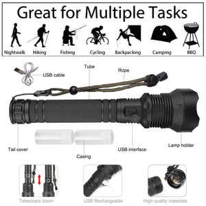 (50%Off End Very Soon)XHP P50 MOST POWERFUL FLASHLIGHT-Buy 2 Extra 20%OFF