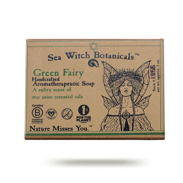 Wholesale Green Fairy  Cold Process Artisan Soap from Sea Witch Botanicals - Star Anise