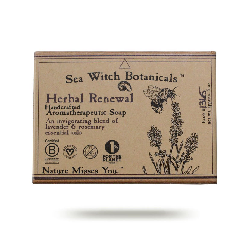 Wholesale Herbal Renewal Cold Process Artisan Soap from Sea Witch Botanicals - Lavender Rosemary