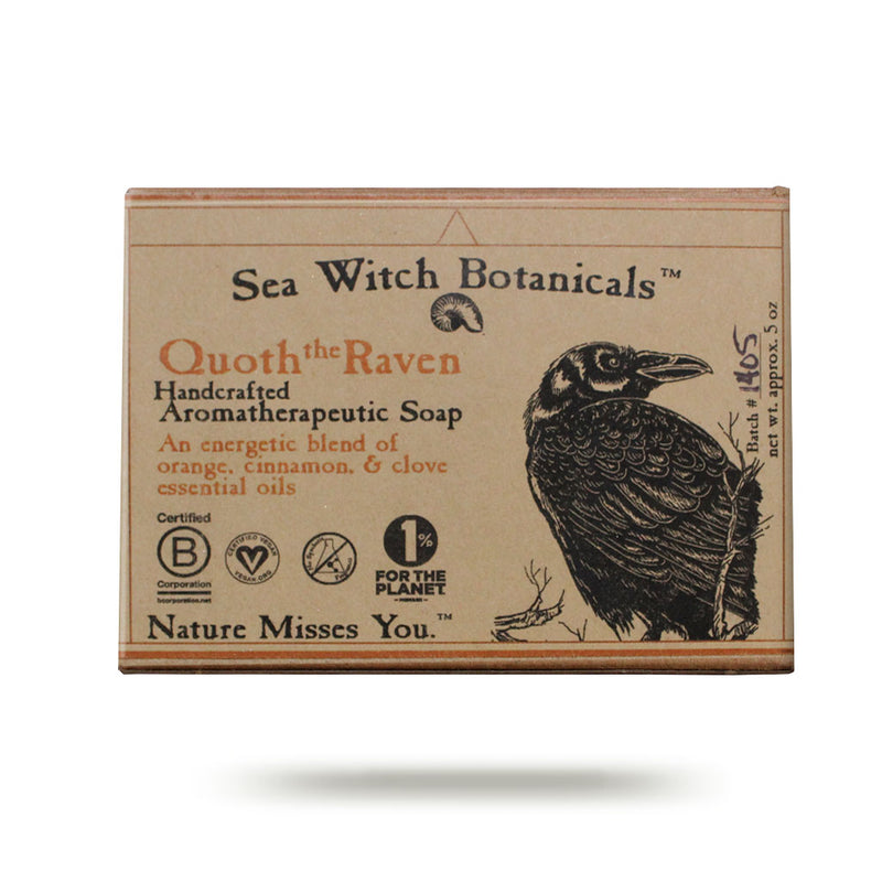 Wholesale Quoth the Raven Cold Process Artisan Soap from Sea Witch Botanicals - Orange Spice