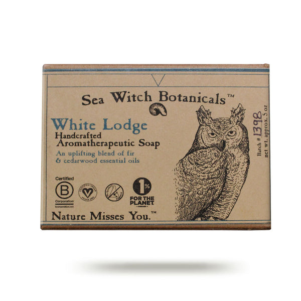 Wholesale White Lodge Cold Process Artisan Soap from Sea Witch Botanicals - Fir Cedar