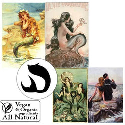 Body Soap: Mermaids Vintage-Facial Soap-Nautical Collection-Sea Witch Botanicals