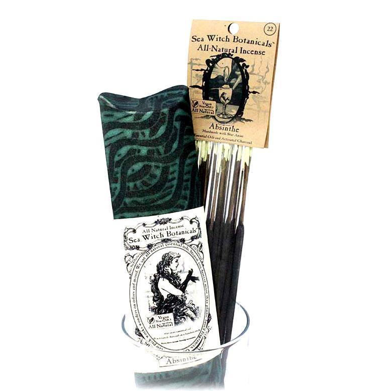 All-Natural Incense: Absinthe - with Star Anise Essential Oil-Incense-12 sticks-Sea Witch Botanicals
