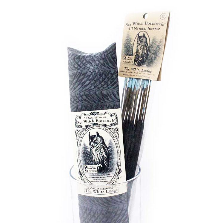 All-Natural Incense: White Lodge - with Cedarwood Atlas & Fir Needle Essential Oils-Incense-12 sticks-Sea Witch Botanicals