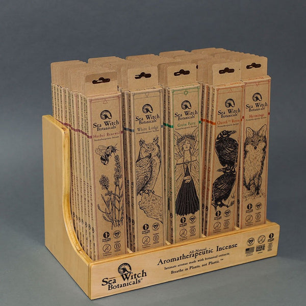 Hand-made Wood Display for Boxed Incense