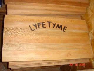 BBQ Cutting Board with Lyfe Tyme Logo