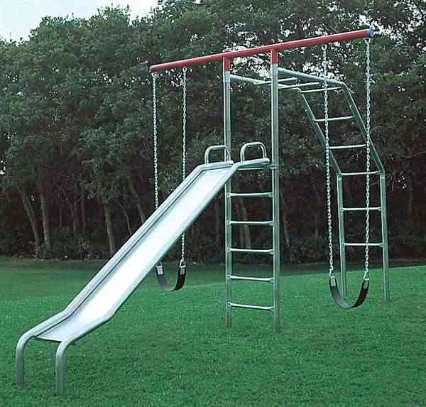 Swing Set T-Climber with Wave Slide (Item 4F)