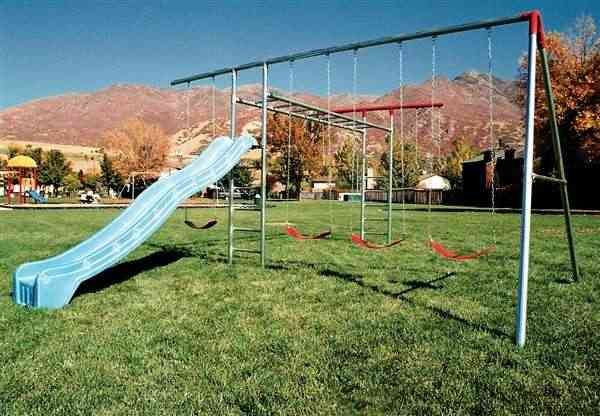 Swing Set with Monkey Bars A-Frame Combo   (Item 6A)
