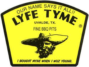 LYFE TYME SINGLE LID GRILL WITH FIREBOX 16X40