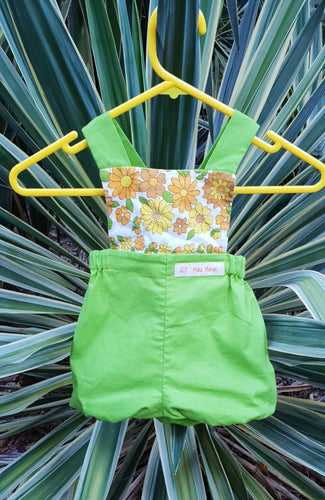 Green Cotton Bloomer Romper