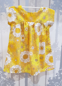 Yellow Flower Power Bronte Dress Cotton Blend