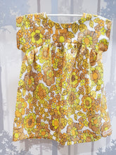 Load image into Gallery viewer, Yellow/Brown Floral Bronte Dress Cotton