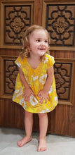 Load image into Gallery viewer, Yellow Flower Power Bronte Dress Cotton Blend