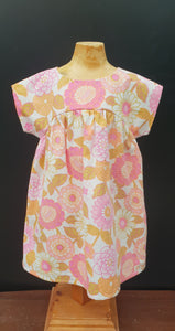 Orange /Pink Bronte Dress Cotton