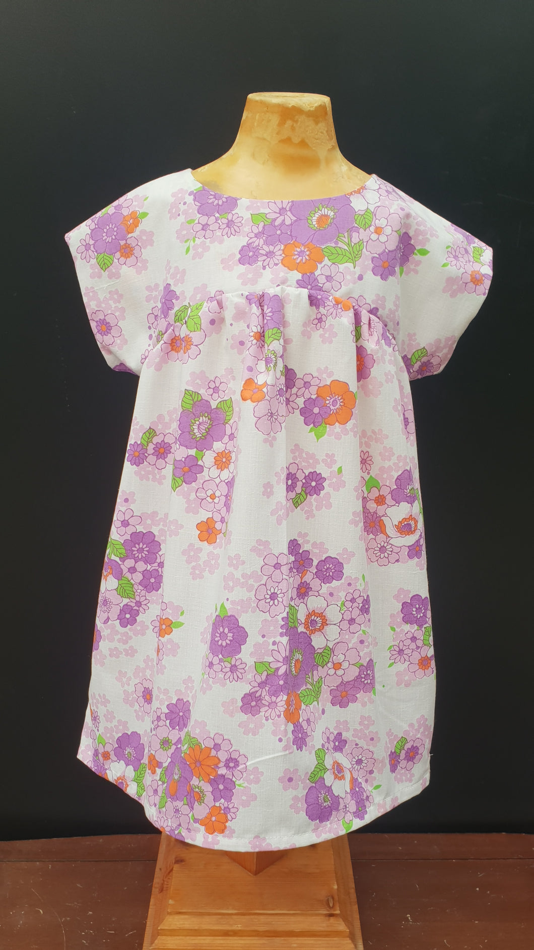 Purple/ Orange Bronte Dress Cotton