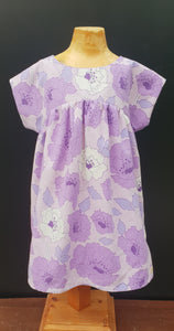 Purple Bronte Dress Cotton Blend