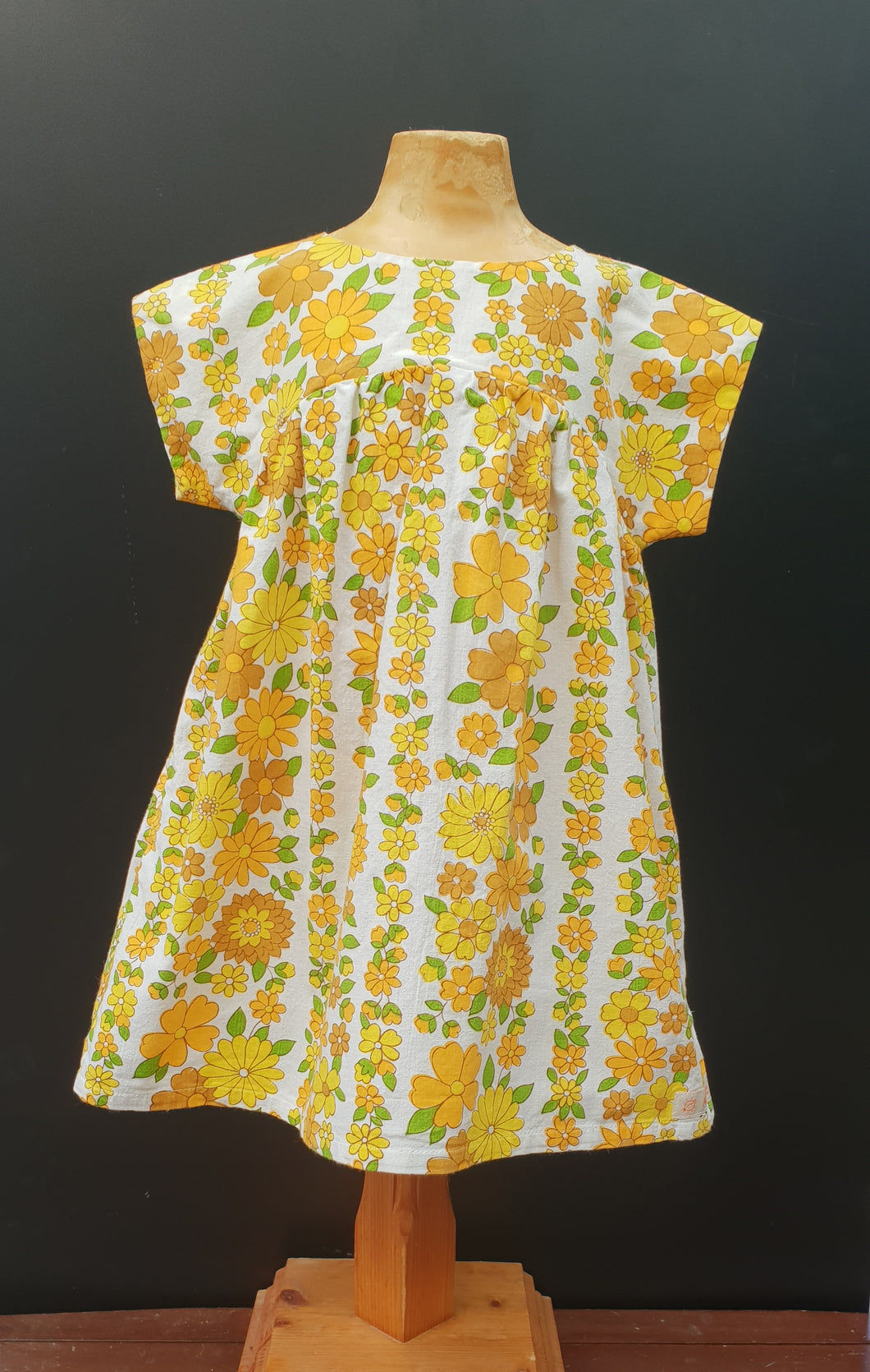 Orange Daisy Bronte Dress Cotton