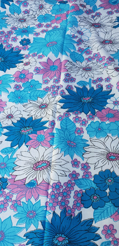 Blue Flower Power Cotton