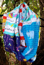 Load image into Gallery viewer, Dr Seuss ~Horton~ Oh, the places you'll go ~Infinity Scarf