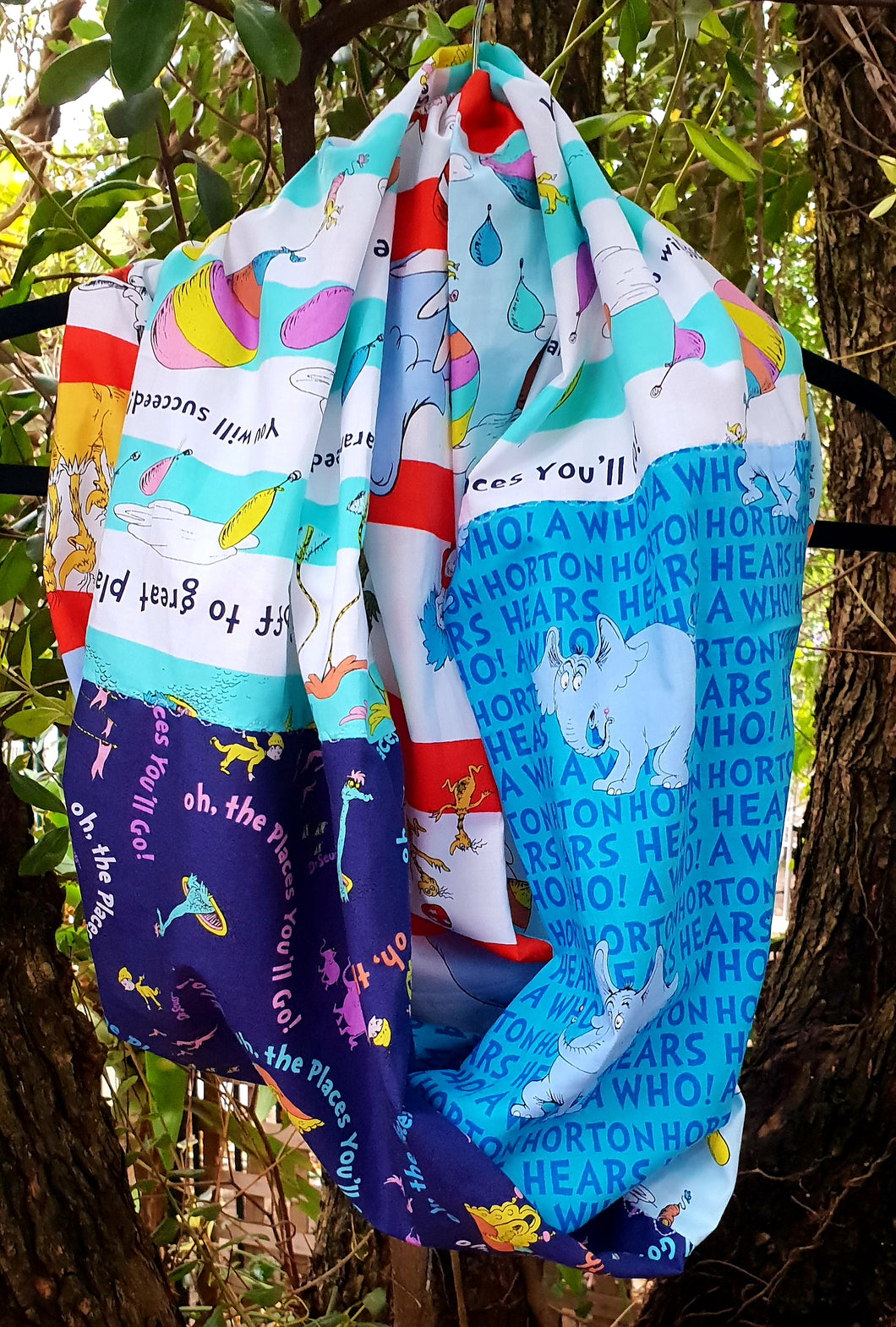 Dr Seuss ~Horton~ Oh, the places you'll go ~Infinity Scarf