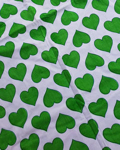 Green Hearts Cotton