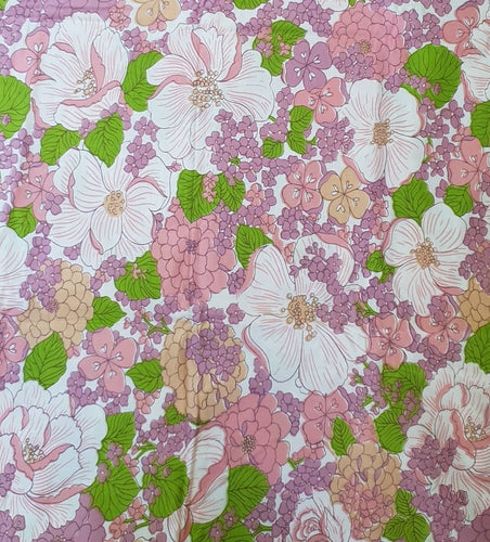 Soft Pink/Lilac Floral Cotton
