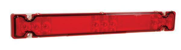 Grote 01-5444-75 – Fontaine® Revolution Red LED Light System, High Mount Stop, Turn, Clearance or ID - Levine Auto and Truck Lighting