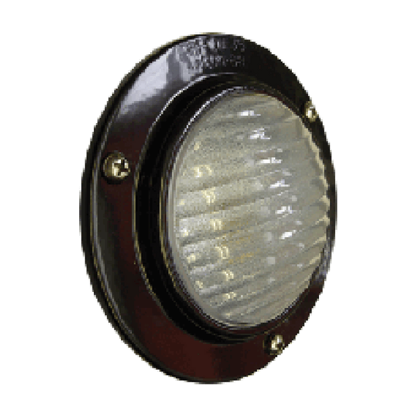 Arrow A035-50-132  LED Stepwell/Dome Light - Recessed Mount - Weather Resistant - Black Aluminum - Levine Auto and Truck Lighting