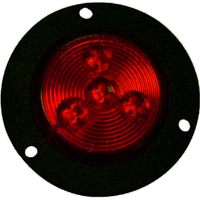 "Arrow A076-01-512 2"" Round LED Marker/Clearance Light, Flush Flange Mount - Red"