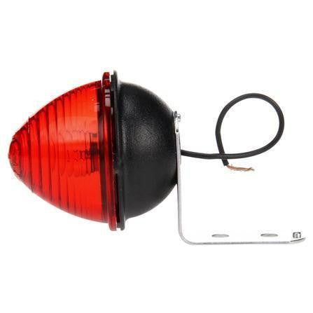 Truck-Lite 1001 Incan, Red Beehive, 1 Bulb, M/C Light, P2, Silver Bracket, 12V ( Discontinued )
