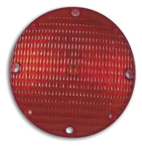 "Weldon 1010-7120-10 Red 7"" Round Stop & Tail, Black Base, FB, #1157 (2 or 3 Wire)"