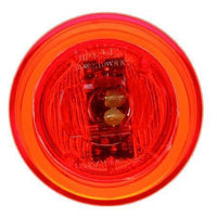 Truck-Lite 10050R Series 10, LED, Red Round, 2 Diode, M/C Light, P2, Black Grommet, 12V, Kit, Marker Clearance Light, Truck-Lite