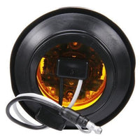 Truck-Lite 10075Y 10 Series, High Profile, LED, Yellow Round, 8 Diode, M/C Light, PC, Black Grommet, 12V, Kit