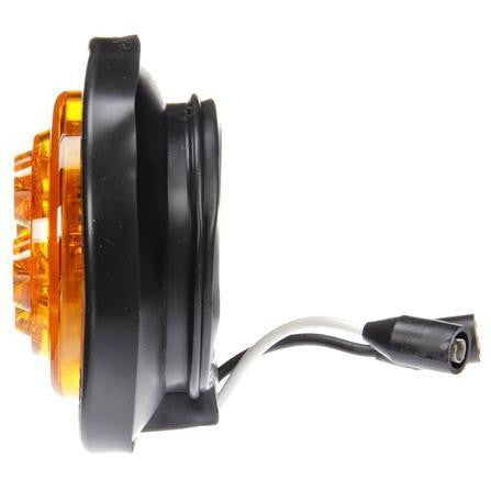 Truck-Lite 10076Y 10 Series, LED, Yellow Round, 8 Diode, Low Profile, M/C  Light, PC, Black Grommet, 12V, Kit