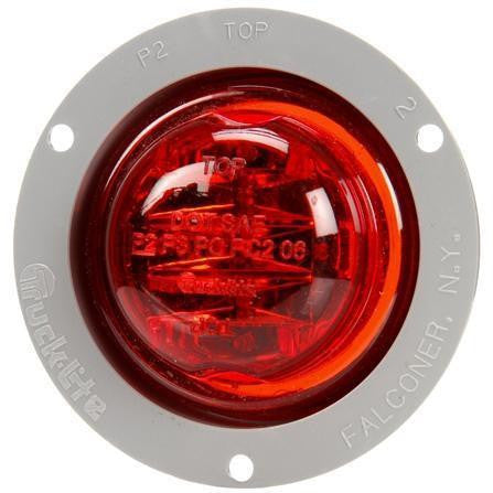 Truck-Lite 10079R 10 Series, High Profile, LED, Red Round, 8 Diode, M/C Light, PC, Gray Flange, 12V, Kit, Marker Clearance Light, Truck-Lite