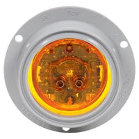 Truck-Lite 10079Y 10 Series, High Profile, LED, Yellow Round, 8 Diode, M/C Light, PC, Gray Flange, 12V, Kit, Marker Clearance Light, Truck-Lite