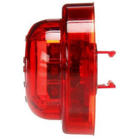 Truck-Lite 10085R 10 Series, High Profile, LED, Red Round, 8 Diode, M/C Light, PC, Black Grommet, 12V, Kit