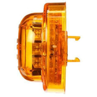 Truck-Lite 10085Y 10 Series, High Profile, LED, Yellow Round, 8 Diode, M/C Light, PC, Black Grommet, 12V, Kit