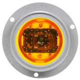 Truck-Lite 10090Y 10 Series, High Profile, LED, Yellow Round, 8 Diode, M/C Light, PC, Gray Flange, 12V, Kit, Marker Clearance Light, Truck-Lite