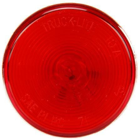 Truck-Lite 10202R 10 Series, Incan., Red Round, 1 Bulb, M/C Light, PC, 12V, Marker Clearance Light, Truck-Lite