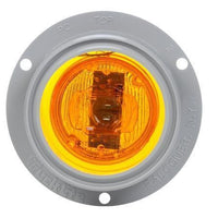 Truck-Lite 10251Y 10 Series, LED, Yellow Round, 2 Diode, M/C Light, P2, Gray Flange, 12V, Marker Clearance Light, Truck-Lite