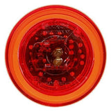 Truck-Lite 10256R 10 Series, LED, Red Round, 3 Diode, M/C Light, P2, 12-24V, Marker Clearance Light, Truck-Lite