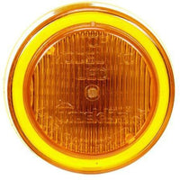Truck-Lite 10256Y 10 Series, LED, Yellow Round, 3 Diode, M/C Light, P2, 12-24V, Marker Clearance Light, Truck-Lite