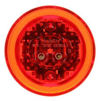 Truck-Lite 10275R 10 Series, High Profile, LED, Red Round, 8 Diode, M/C Light, PC, 12V, Marker Clearance Light, Truck-Lite